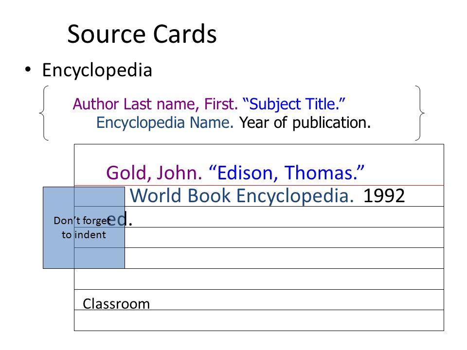 Mla bibliography cards