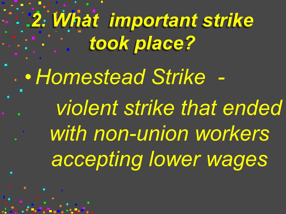 2. What major labor union was formed.