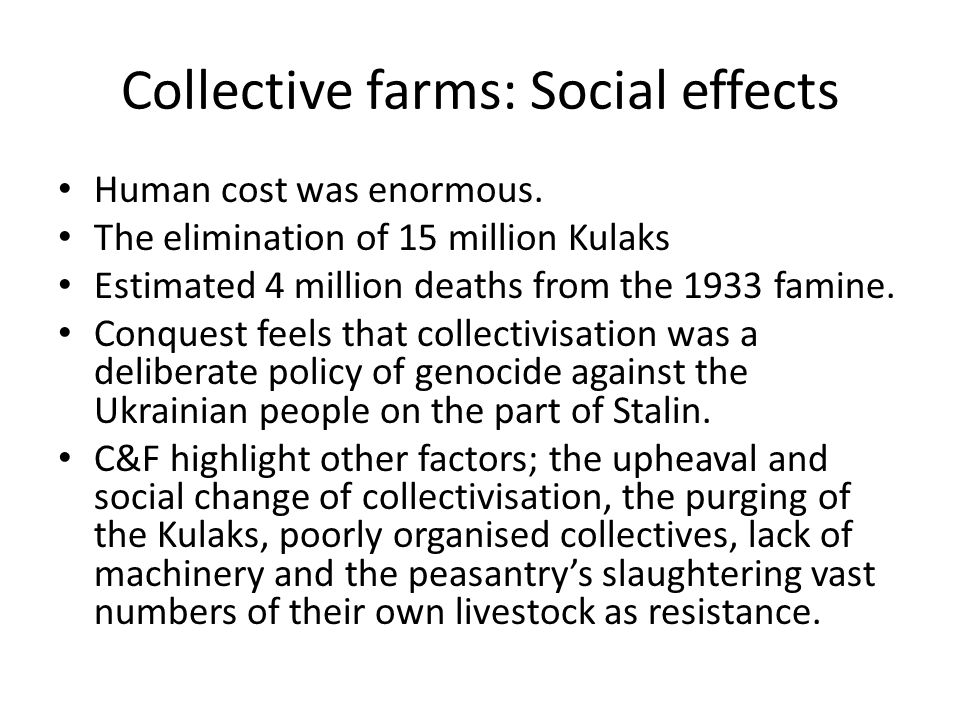 What were the effects of industrialisation on the USSR?