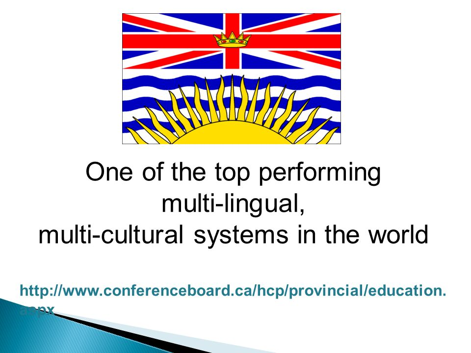 One of the top performing multi-lingual, multi-cultural systems in the world http://www.conferenceboard.ca/hcp/provincial/education.