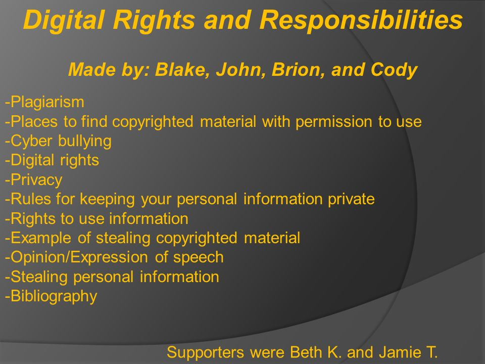 digital rights and responsibilities - ThingLink