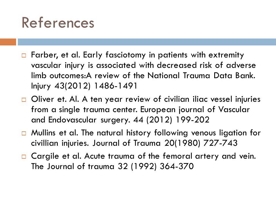 References  Farber, et al.