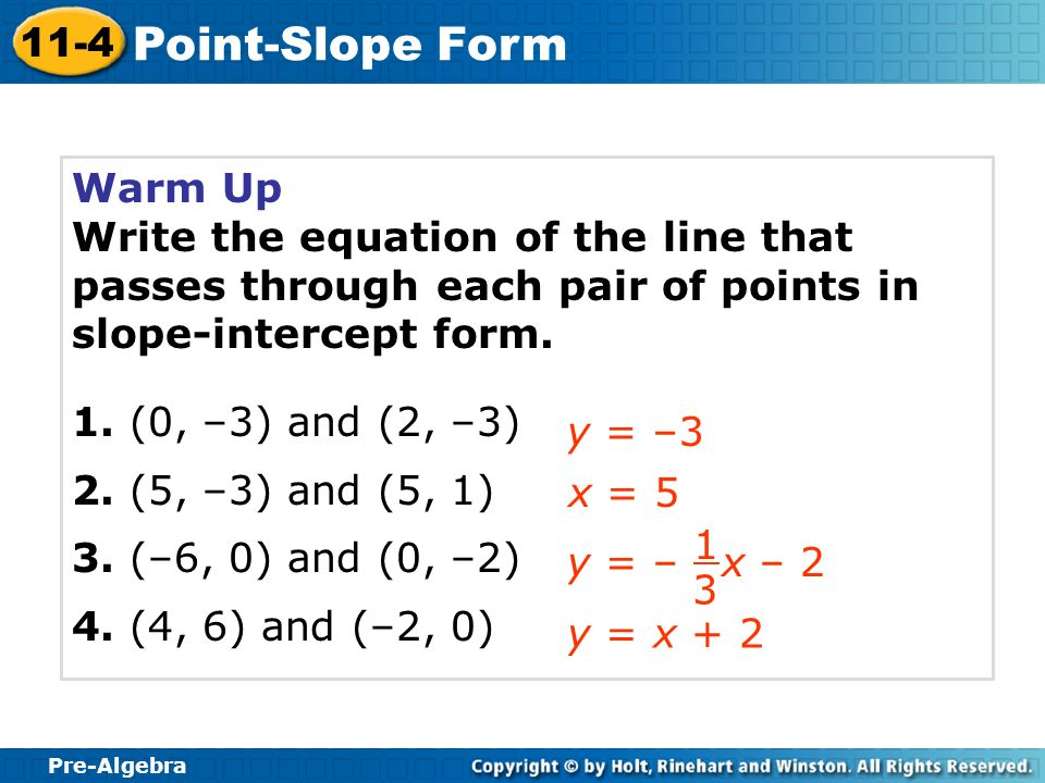 Equation Of A Line In Point Slope Form - Jennarocca