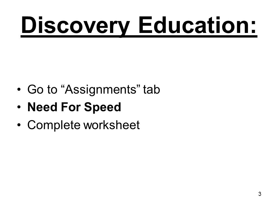 Assignments Discovery Ed