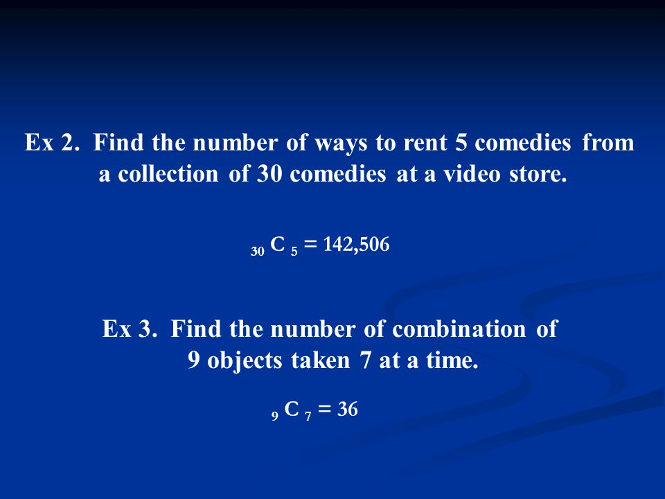 Permutation and combination solved problems