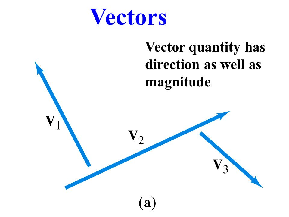 Vectors Vector quantity has direction as well as magnitude. - ppt ...