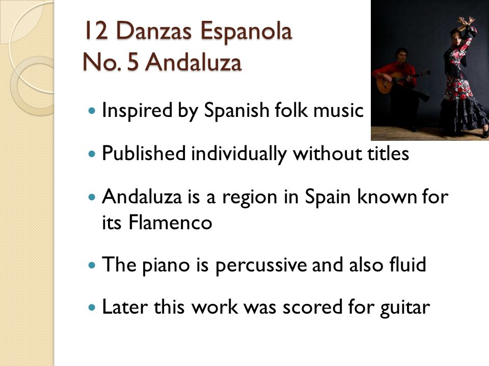 granados andaluza für gitarre