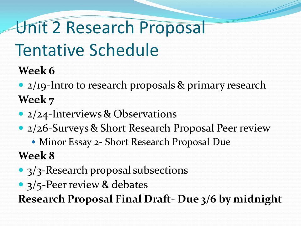 research essay proposal structure