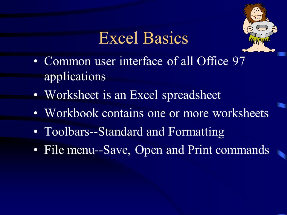 Exploring Microsoft Excel 97 Chapter 1 Introduction to Microsoft ...