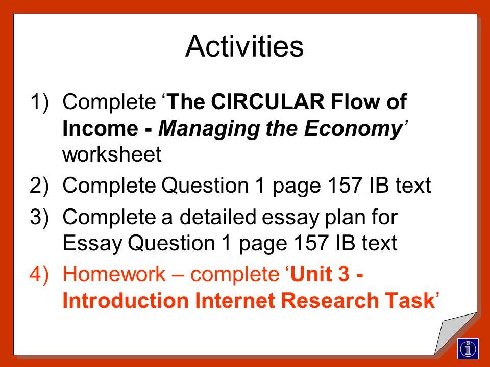 macroeconomic questions essay