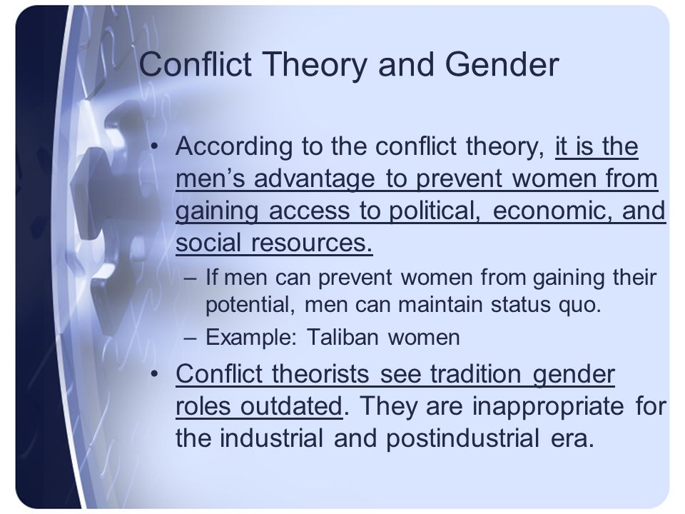 thesis statement about gender roles Sample thesis statements for paper 2 as you read each thesis, consider: what main points would you expect the rest of the paper to cover the gender binary leaves.