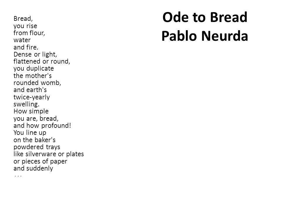 Unit 6 Poetry type, format, history, examples. The Ode The ode is ...