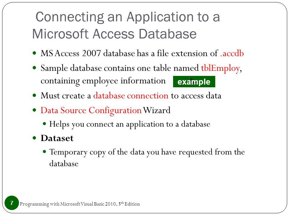 sample database access 2007