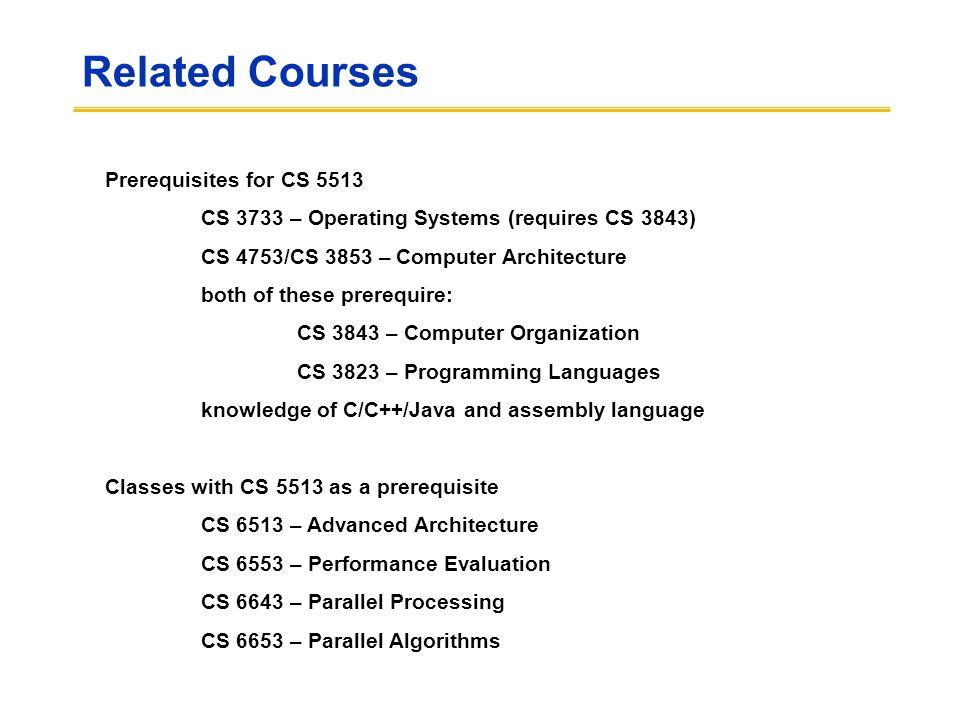 CS Computer Architecture Lecture Introduction Daniel A - Architecture prerequisites