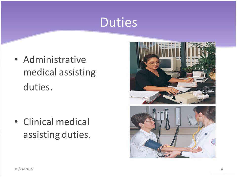 administrative medical assistant duties