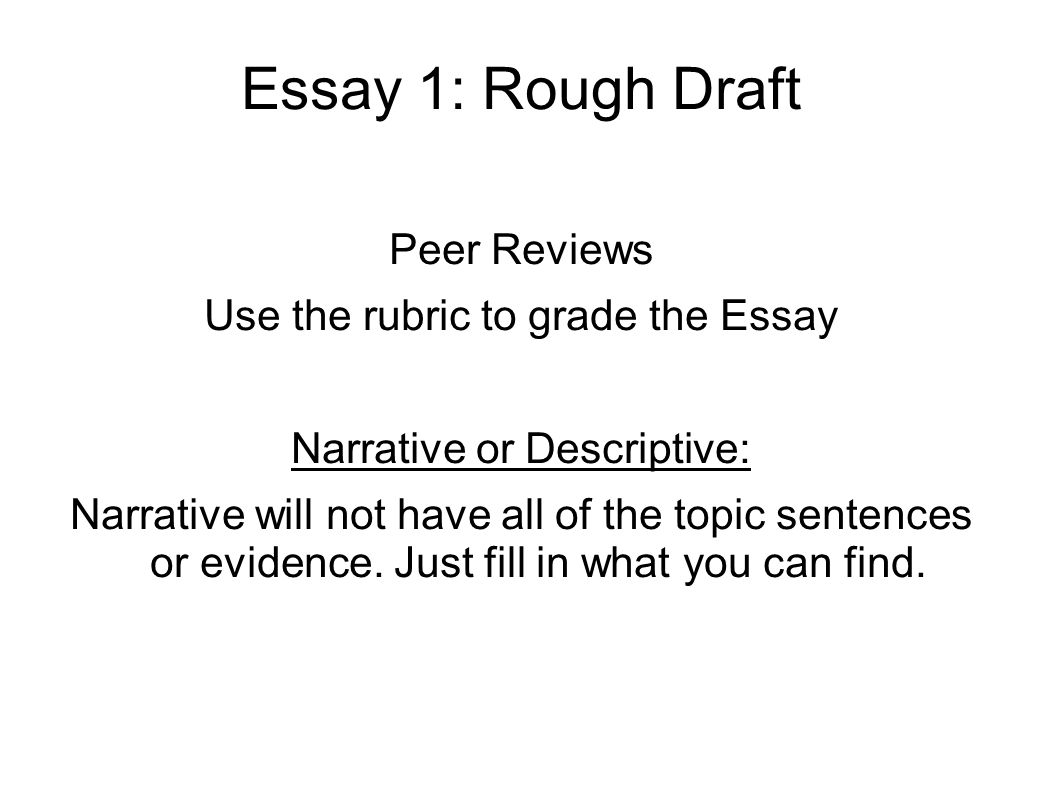 descriptive essay peer review Students utilizing well-developed feedback forms for peer review can in effect give students a deeper understanding of how their writing affects different readers.