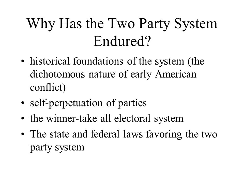 Why Has the Two Party System Endured.