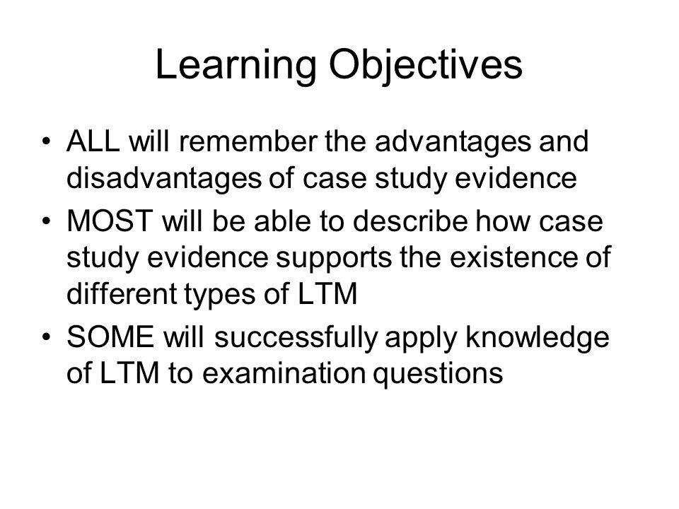 Advantages of case study method