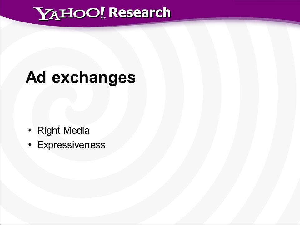 Research Ad exchanges Right Media Expressiveness