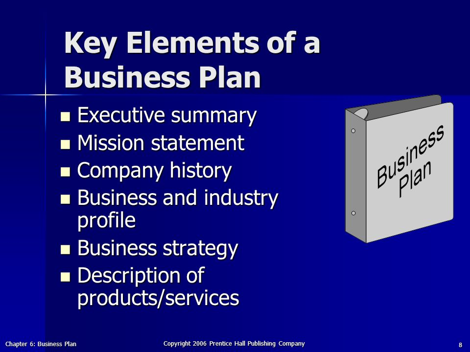 Key Elements Of Business Plan