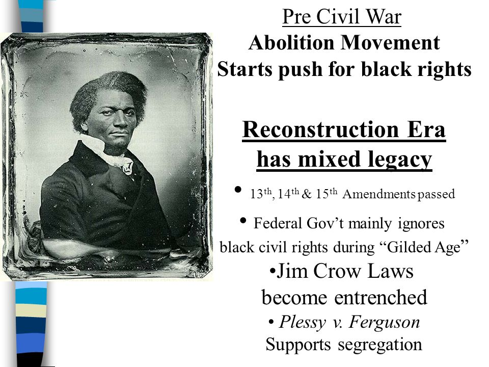 african americans push for segregation to be abolished The civil war had officially abolished slavery african americans had had more than enough of segregation laws at the time stated blacks must sit in.