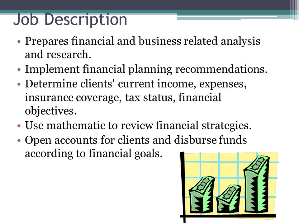 job description financial advisor carpinteria rural friedrich job