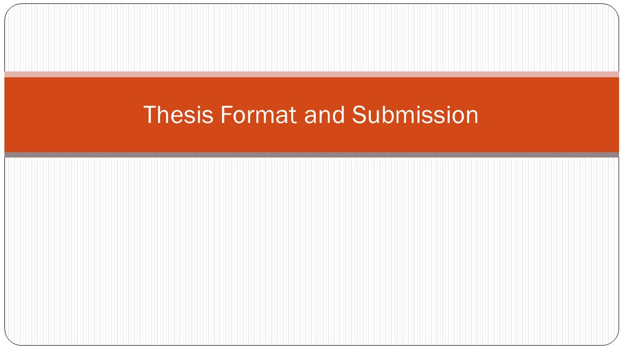 Dissertation Submission Form