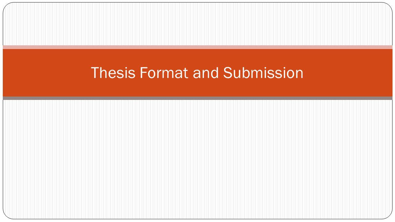 Dissertation Submission