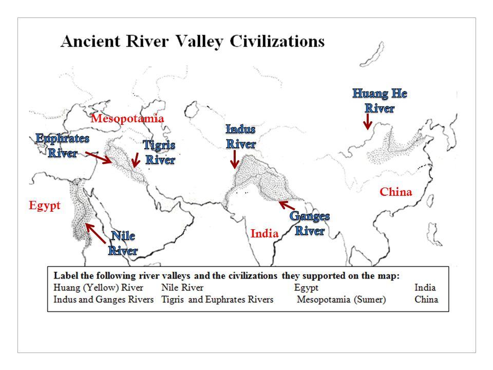 Chapter Part I Final Notes Mesopotamia Egypt India China Ppt - Map of egypt mesopotamia and israel