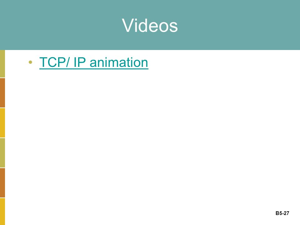 B5-27 Videos TCP/ IP animation
