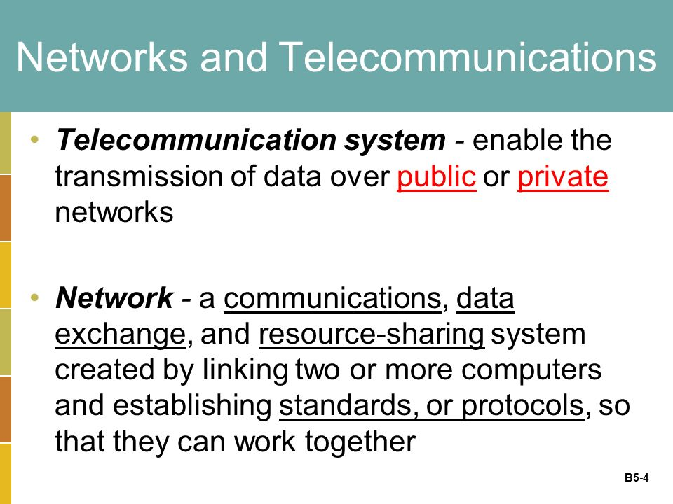 B5-25 Transmission Control Protocol/Internet Protocol Transmission Control Protocol/Internet Protocol (TCP/IP) - provides the technical foundation for the public Internet as well as for large numbers of private network
