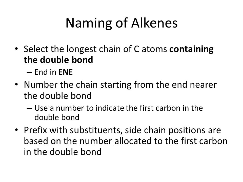 Alkenes AS Chemistry Understand that alkenes and cycloalkenes are – Naming Alkenes Worksheet