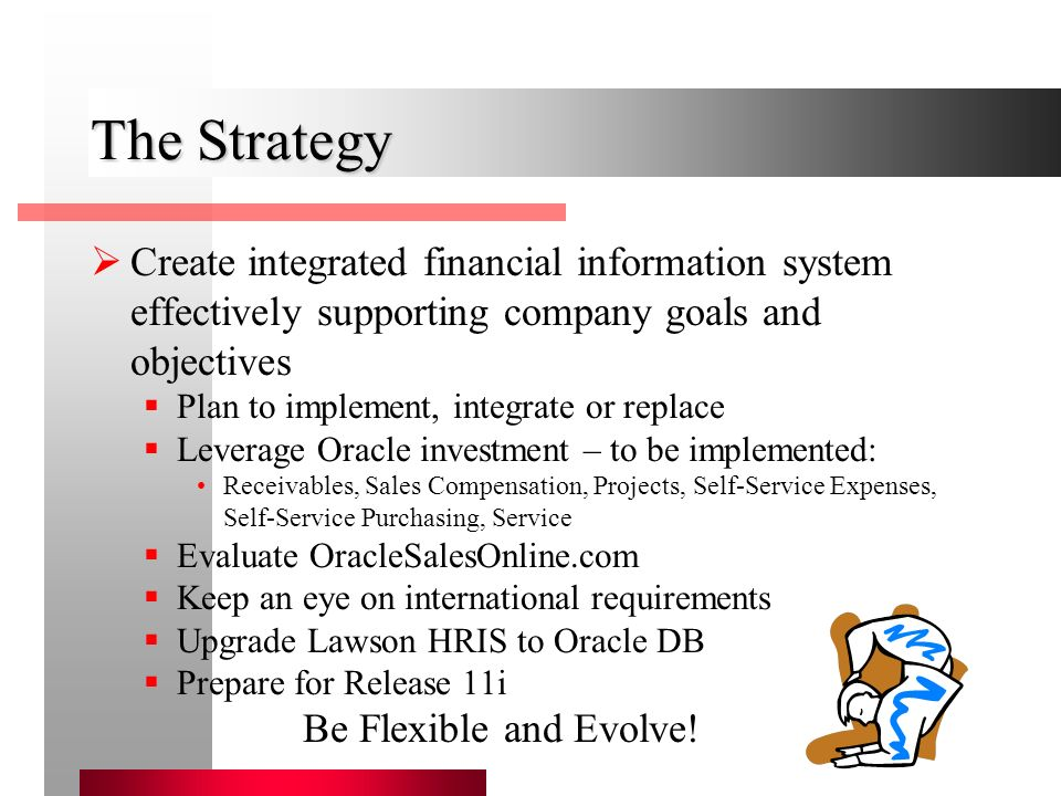 6 the strategy create integrated financial information system - Lawson Hris System