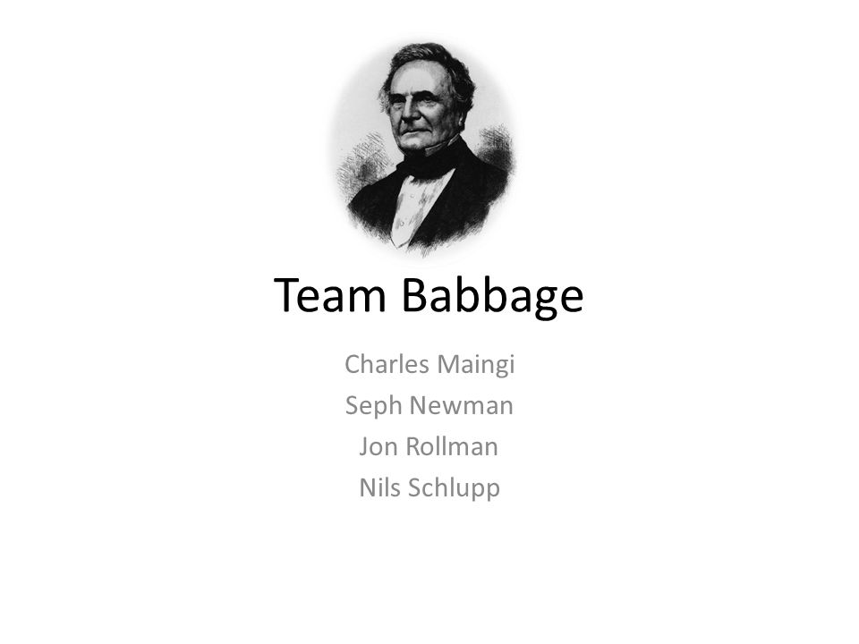 introduction to charles babbage In the acellus introduction to coding this unit covers the historical significance of charles babbage  students begin with an introduction to variables.