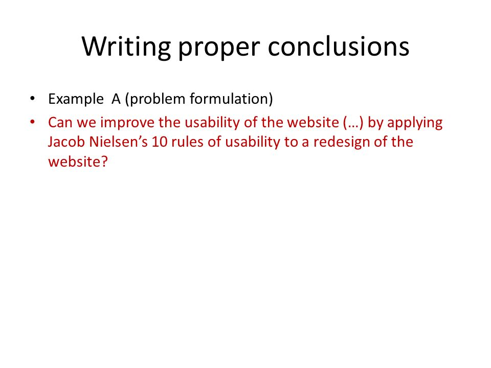writing a proper conclusion to an essay