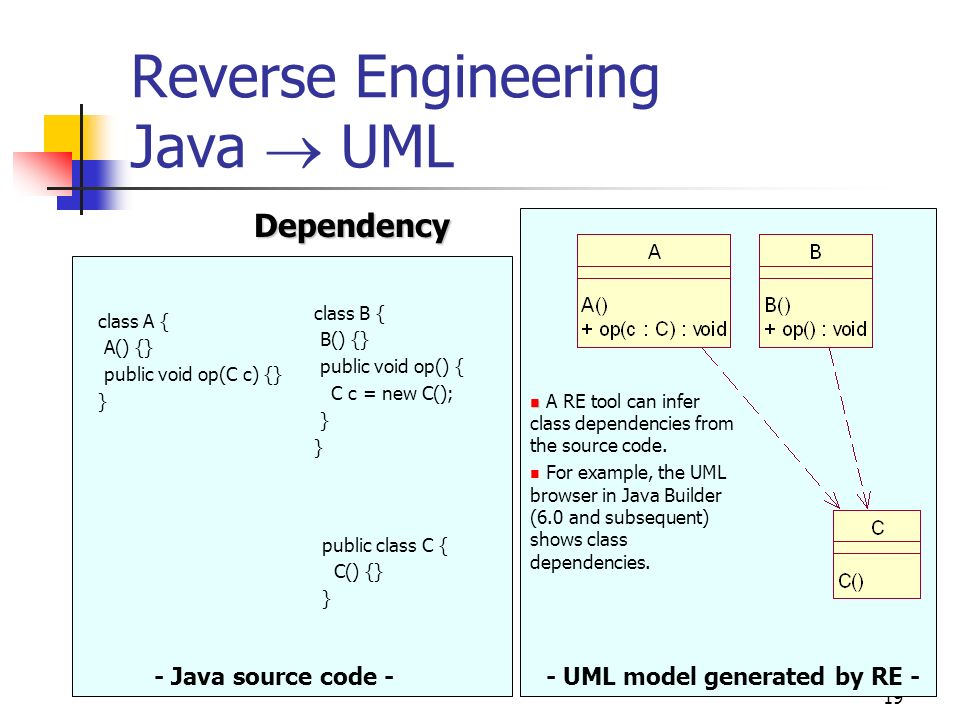 19 reverse engineering java uml dependency java source code uml model generated - Uml Reverse Engineering