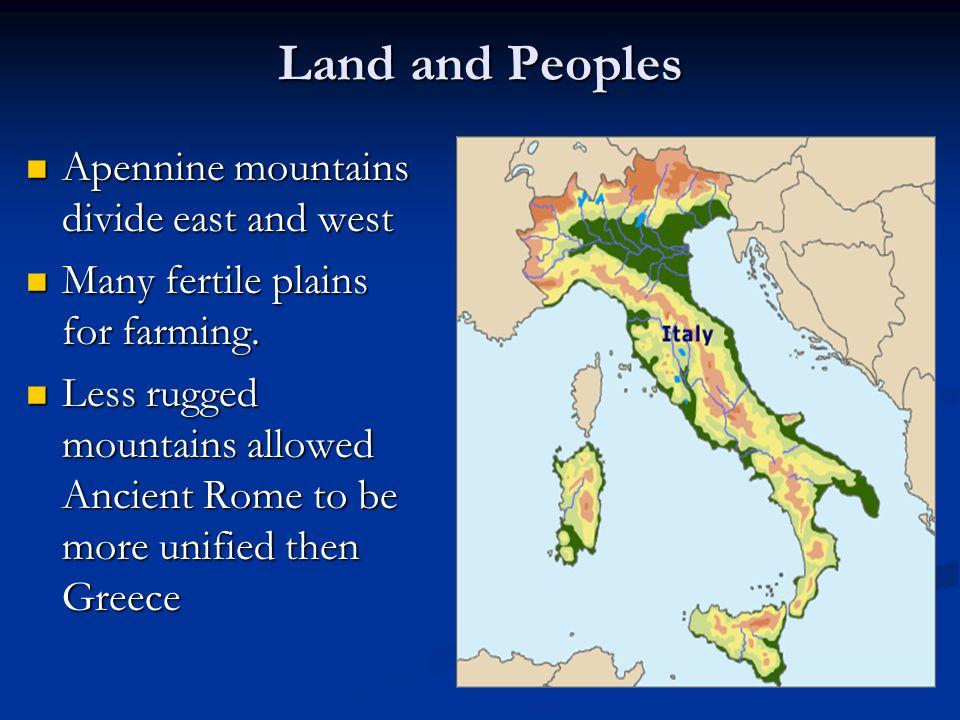Apennines Mountains Map 85822 | USBDATA