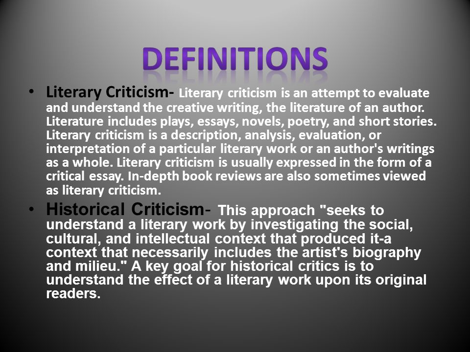 cultural criticism essay Creative cultural criticism: cultural criticism essay topics our department offers courses on a wide range of topics in communication and related disciplines  the relationship between socioeconomic.