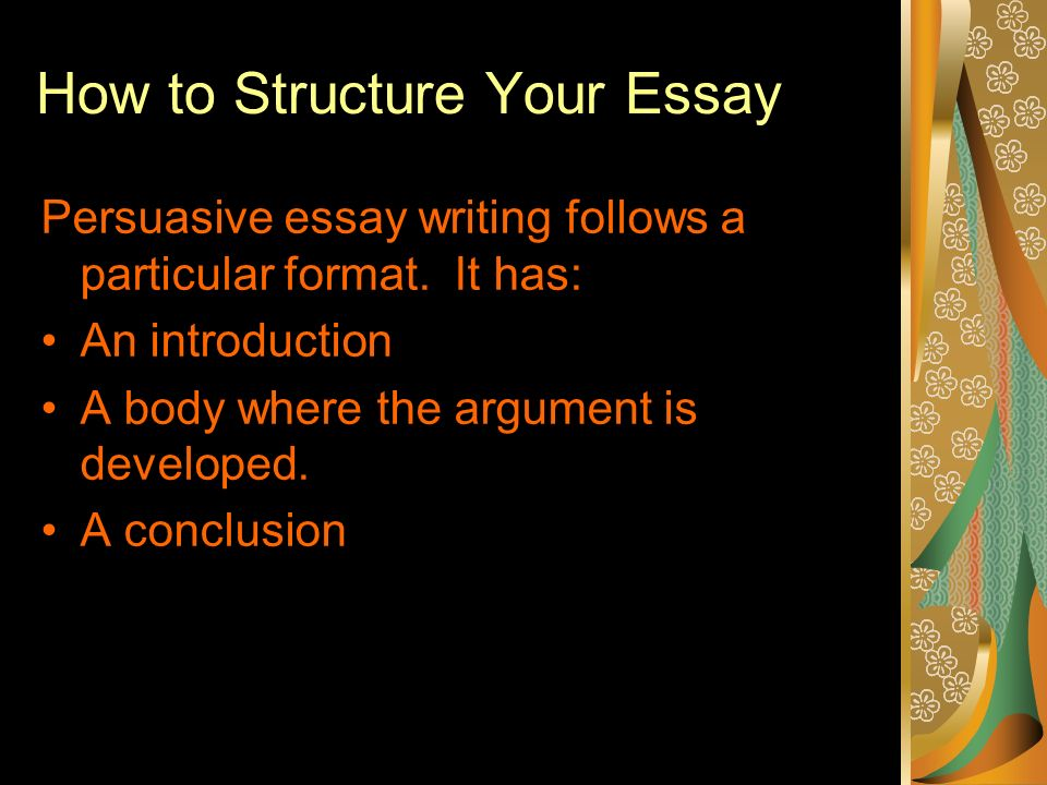 types of persuassive essays A persuasive essay uses reason to demonstrate that certain ideas are more valid than others in academic writing the purpose of such an essay is to encourage readers to accept a particular viewpoint or act in a particular way.