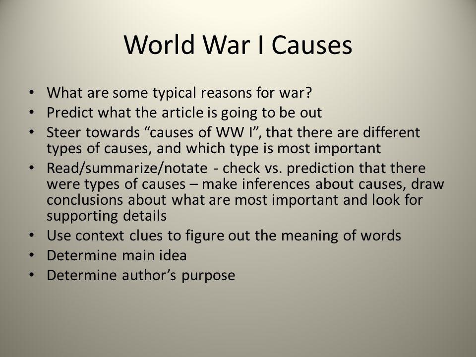 causes of world war one essay plan