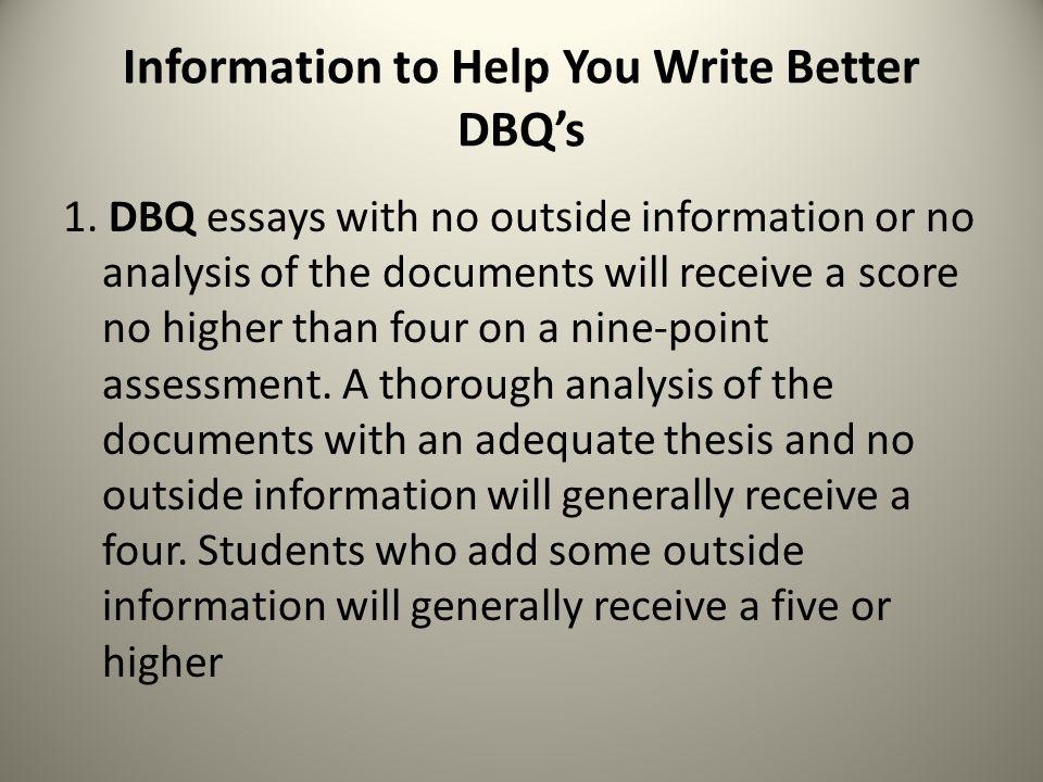 Help with dbq essays