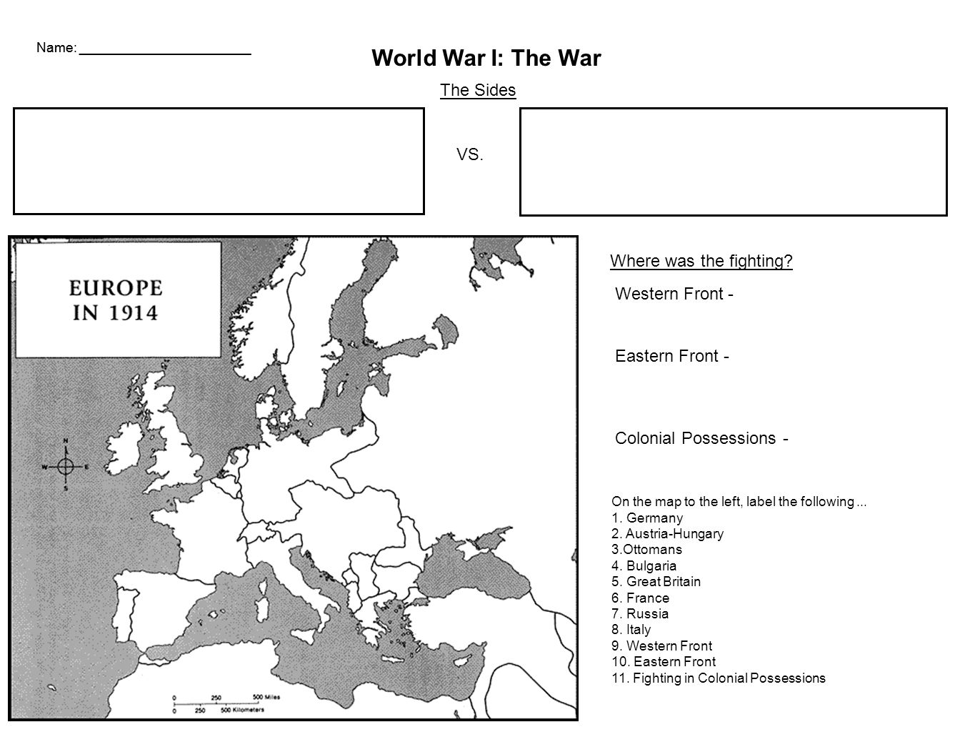 Name World War I Political Cartoons Use Your Knowledge Of WWI To - Germany map cartoon