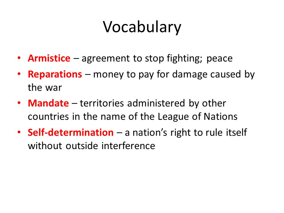 Bell ringer germanys policy of led to the 5 vocabulary armistice agreement to stop fighting platinumwayz