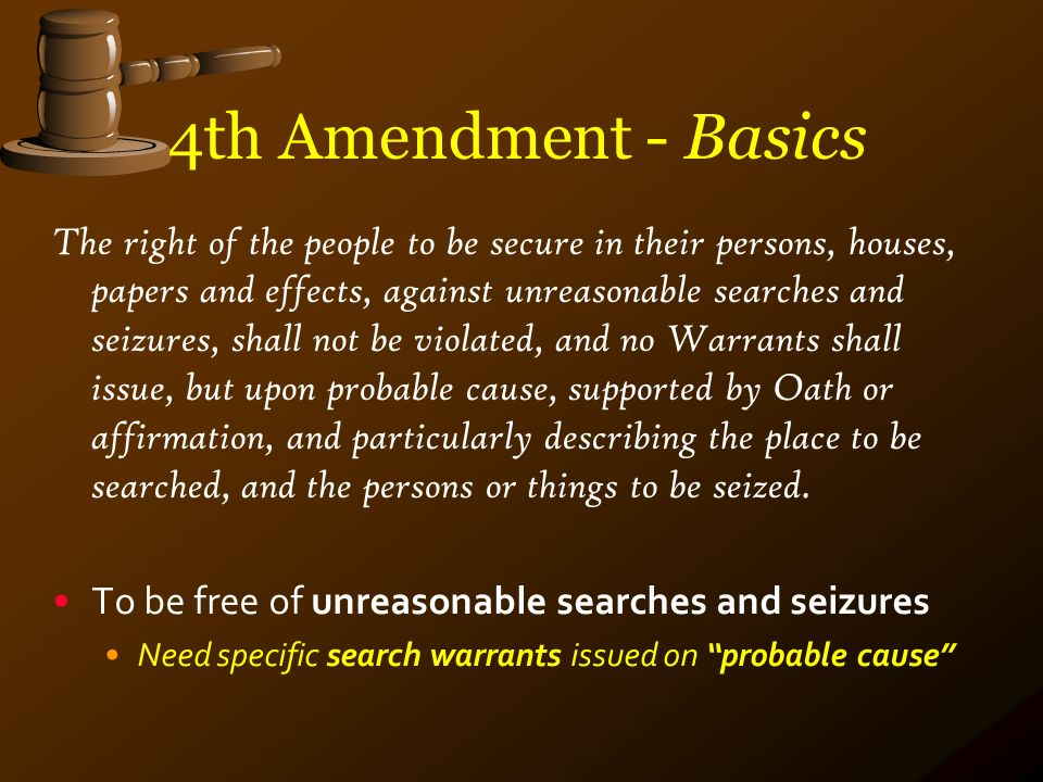 The Fourth Amendment is NOT a Useless Piece of Paper | Tarheel Tea ...