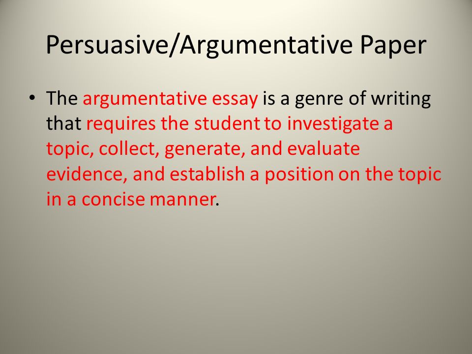 Argumentative Essay Topics For High School