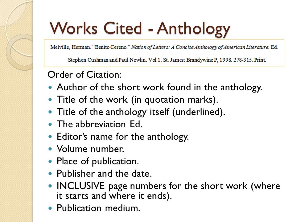 How To Cite Essays From An Anthology   image       Play Zone eu