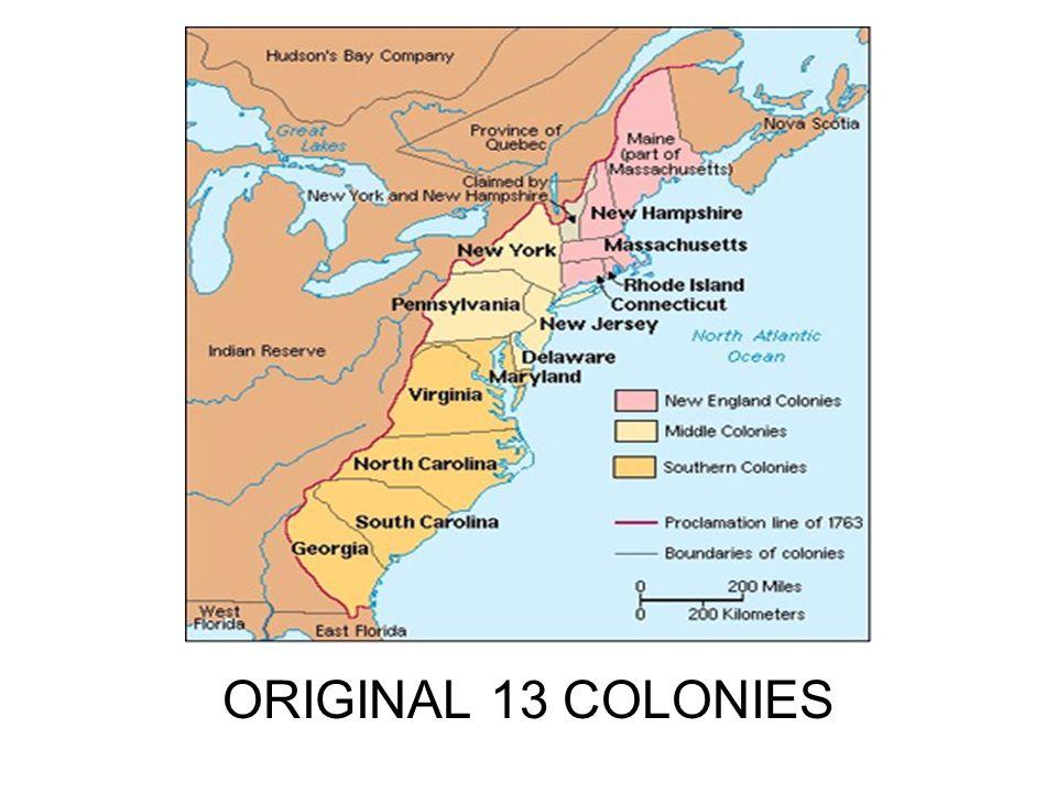 13 American colonies please help?