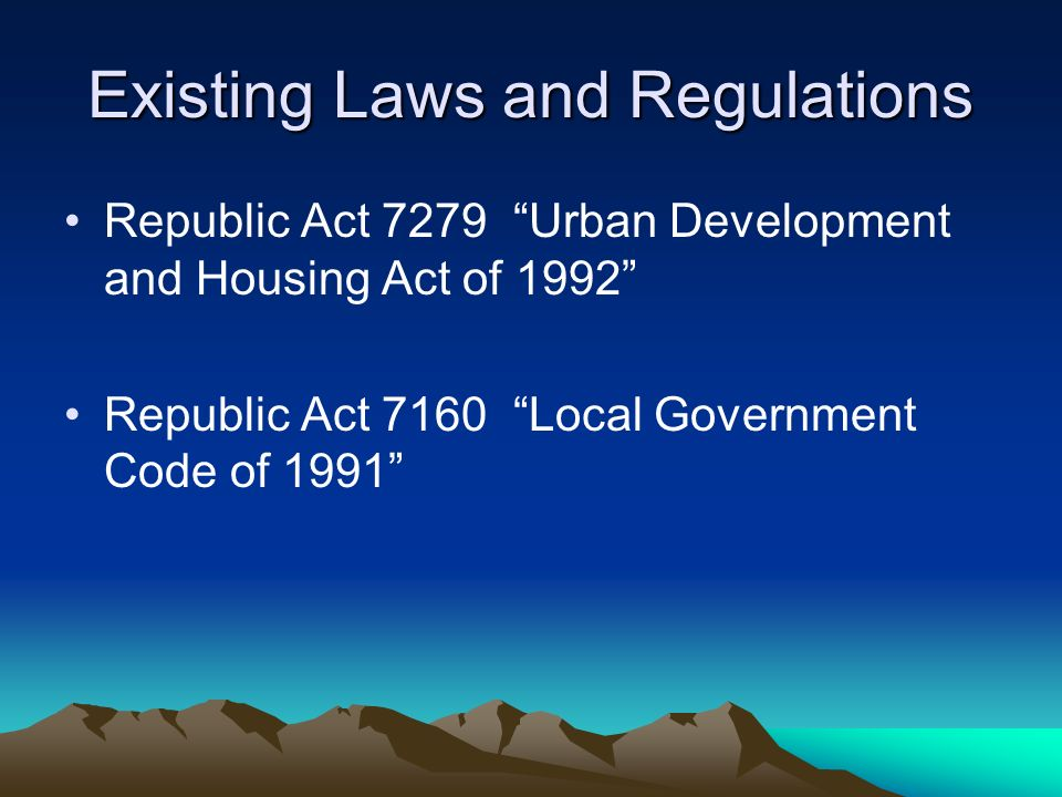 Q & A on Local Housing Laws, Programs and Organizations by Atty. Alvi…
