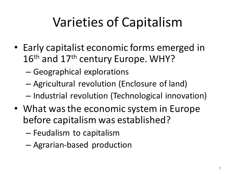 an introduction to the emergence of capitalist economy in russia