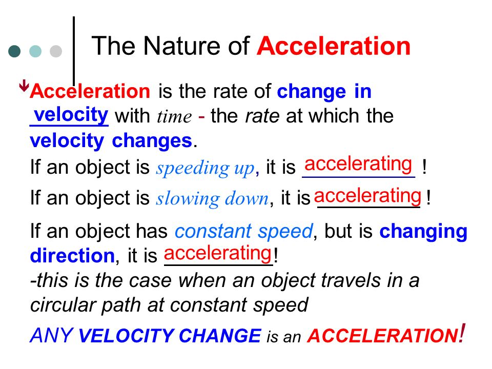Kinematics- Acceleration Chapter 5 (pg ) A Mathematical Model of Motion